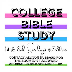 VIRTUAL COLLEGE BIBLE STUDY @ Virtual- ZOOM